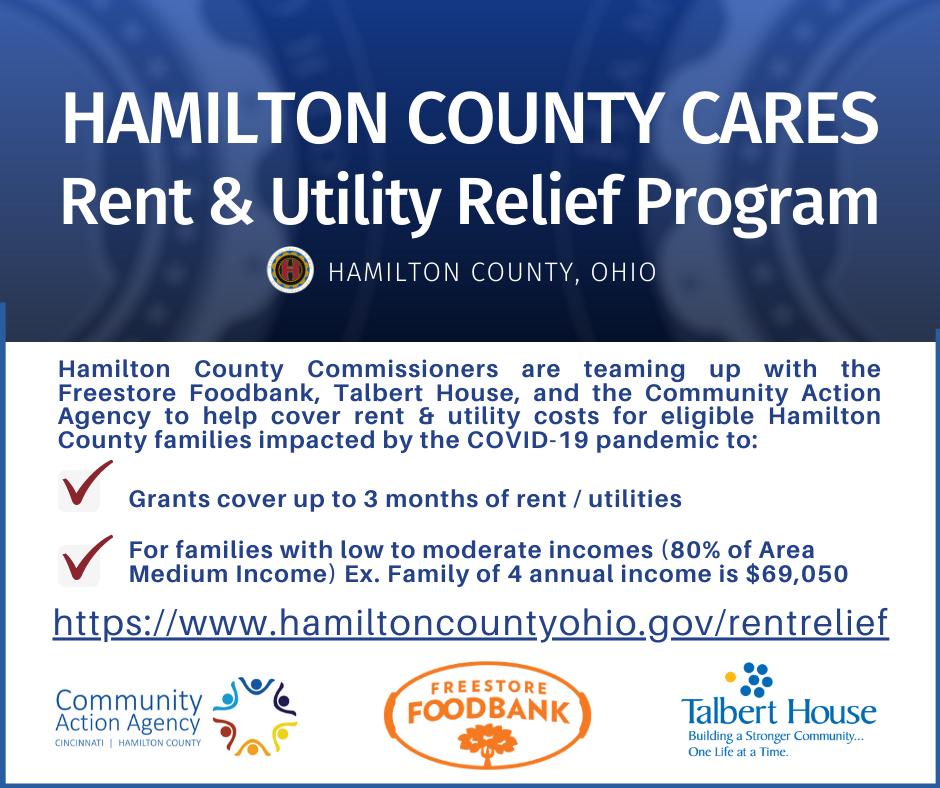 Hamilton County Commissioners Are Offering Rent Relief To Families Who Have Lost Income Due To COVID-19